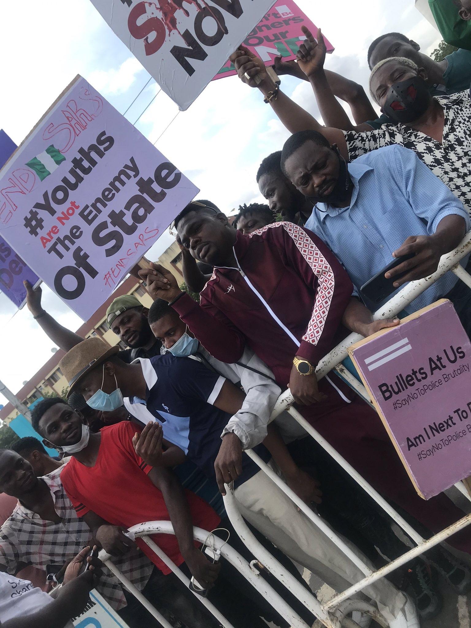 Mr Macaroni joins End SARS protest