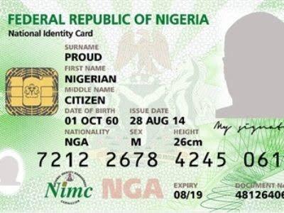 NIN, National Identity Card