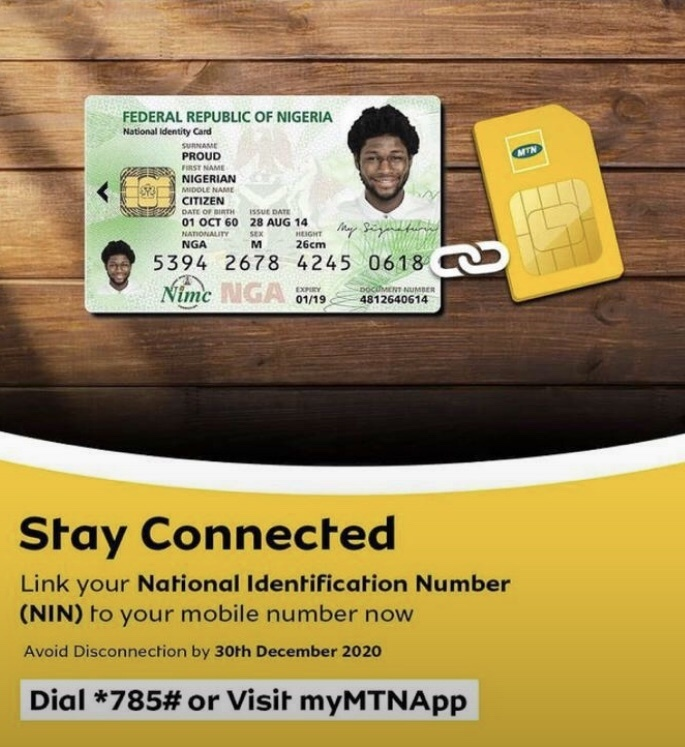 How to link my MTN sim to NIN?