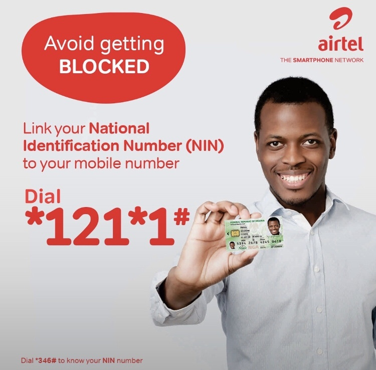 How to link my Airtel sim to NIN?