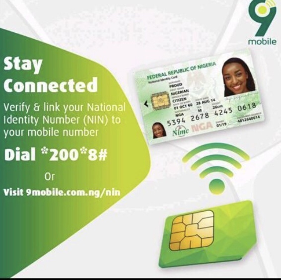 How to link my 9mobile/Etisalat sim to NIN