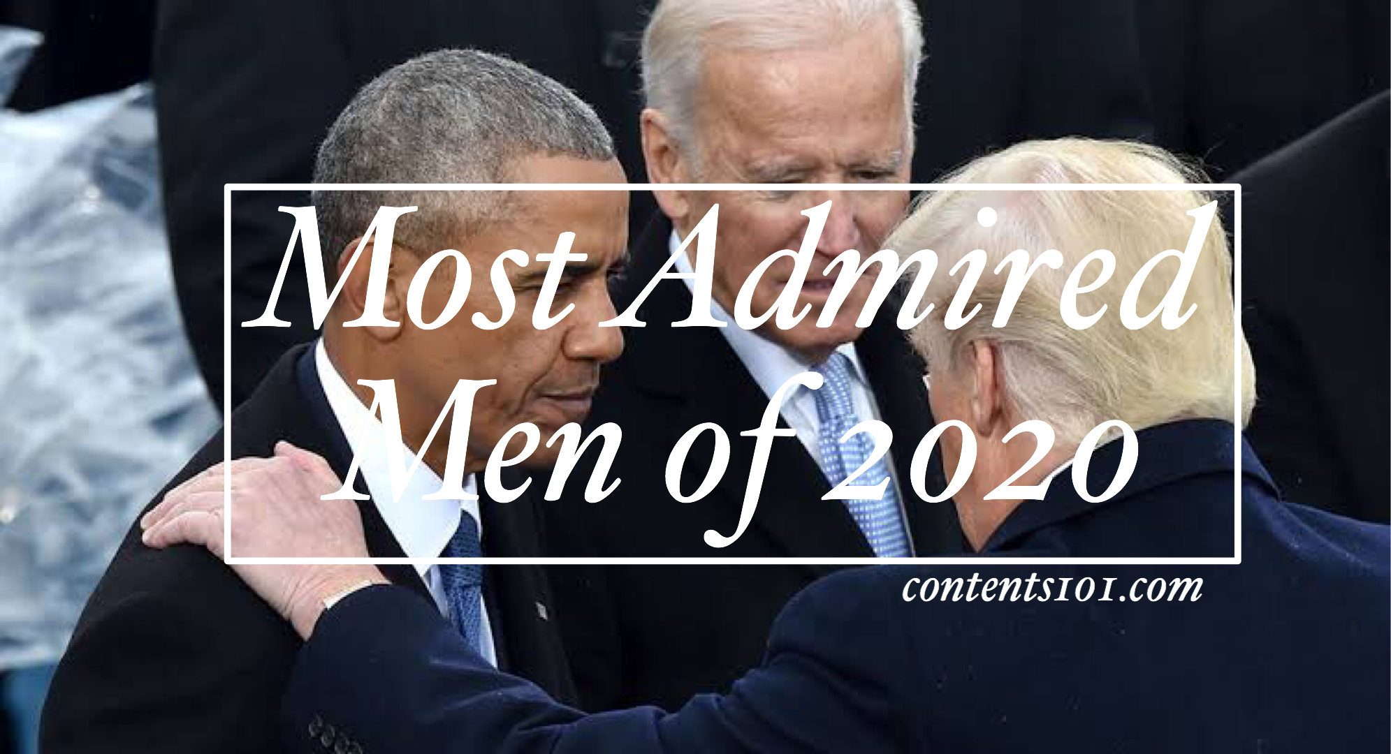 List of most admired men of 2020