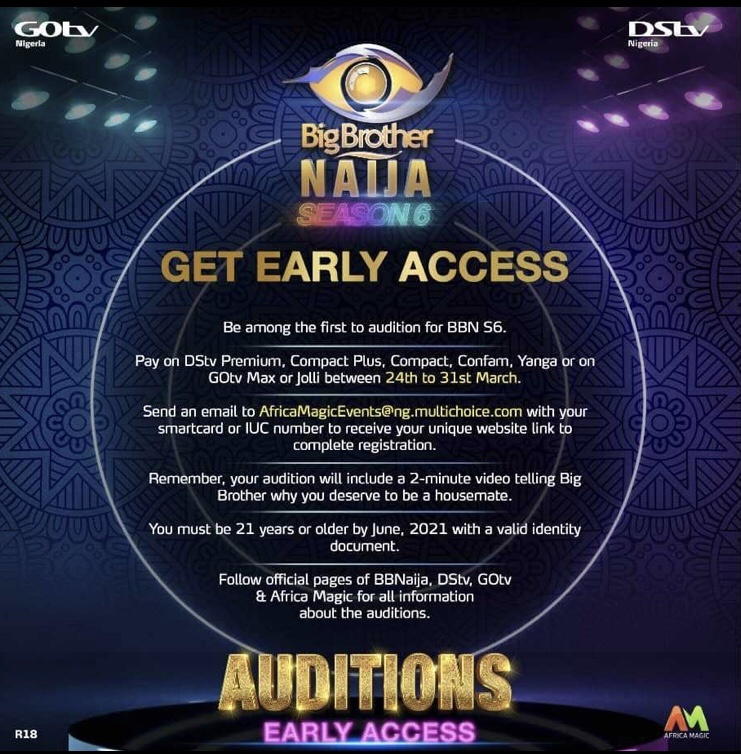 How to audition for Big Brother Naija Season 6