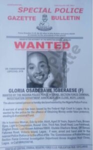Glory Osei declared wanted by Interpol